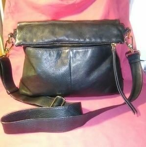 Margot NY 🍎Womens CrossBody Black Leather Bag